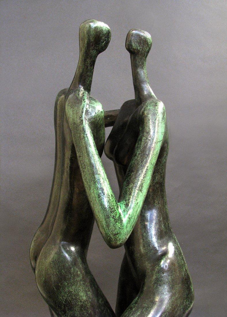 Modern Bronze Sculpture designed by Malka Rosenstein - 4