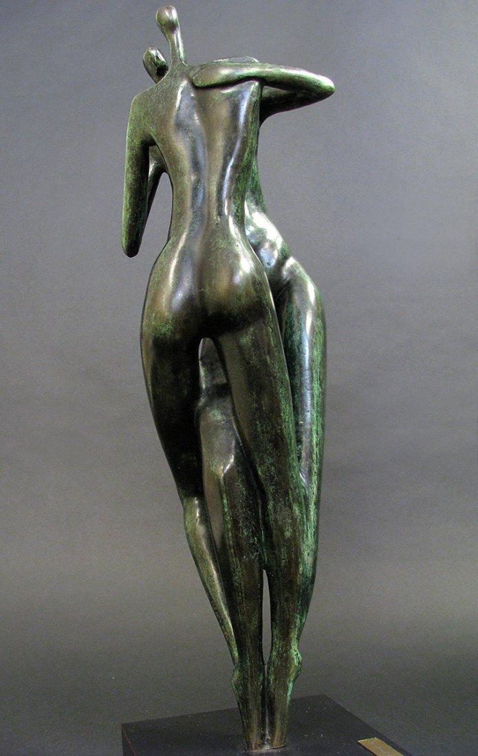 Modern Bronze Sculpture designed by Malka Rosenstein - 6