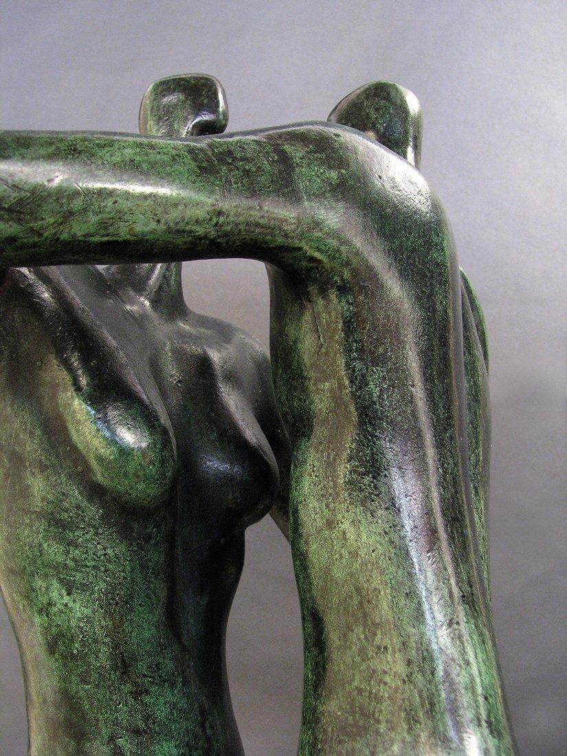 Modern Bronze Sculpture designed by Malka Rosenstein - 7