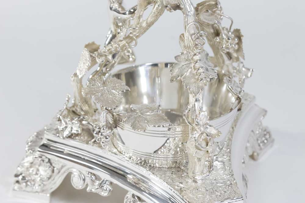 Monumental Silver-plated & Etched Crystal Epergne - 5