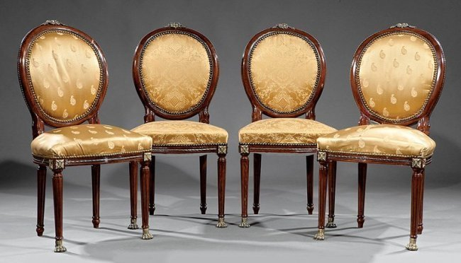 Gilt Bronze-Mounted Mahogany Side Chairs