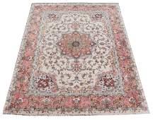 "Hand Woven Wool/Silk Tabriz Persian Rug 9' 9.5"" x 13'"
