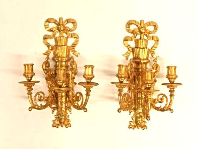 French Pair of Wall Scones 19th C.