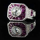 Intricately and masterfully handcrafted diamond & Ruby