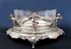 German Silver Centerpiece Crystal (Plateau next lot)