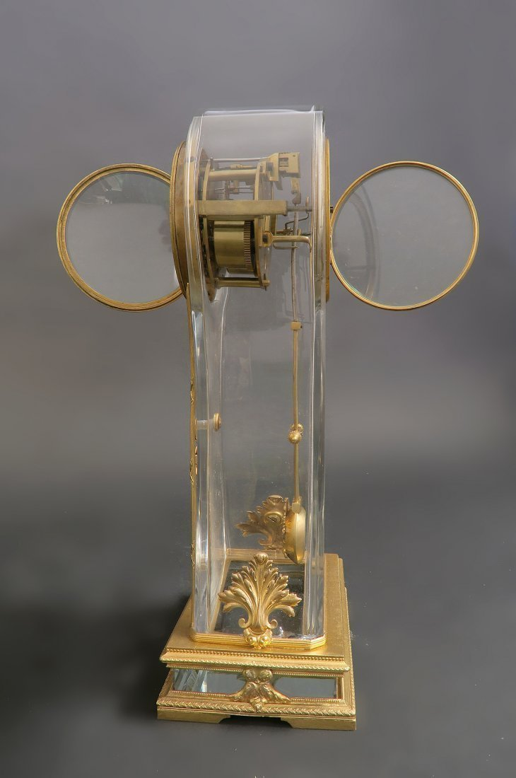 French 19th C. Bronze & Baccarat Crystal Clock - 3
