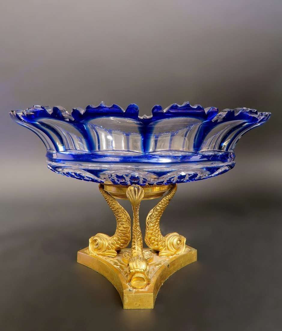 Exceptional 19th C. Bronze Baccarat Crystal Centerpiece - 2