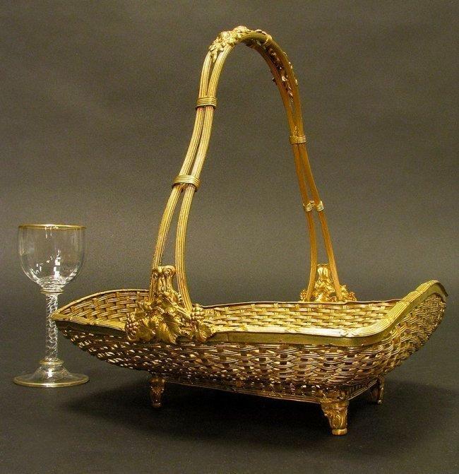 19th. C. Bronze Hand Painted Napoleon Bonaparte Basket - 2