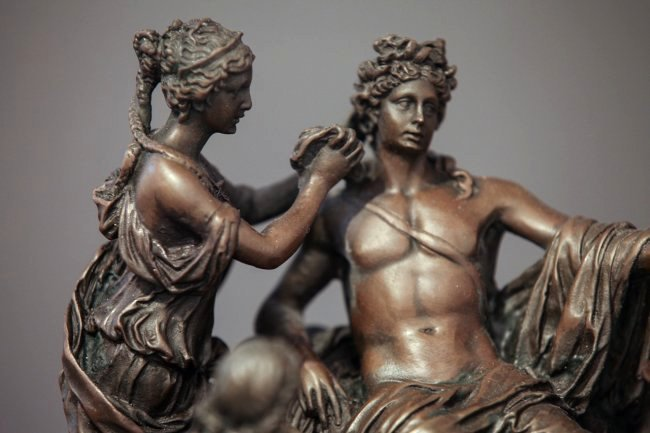 Fine 19th C. French Patinated Bronze Figural Group - 2