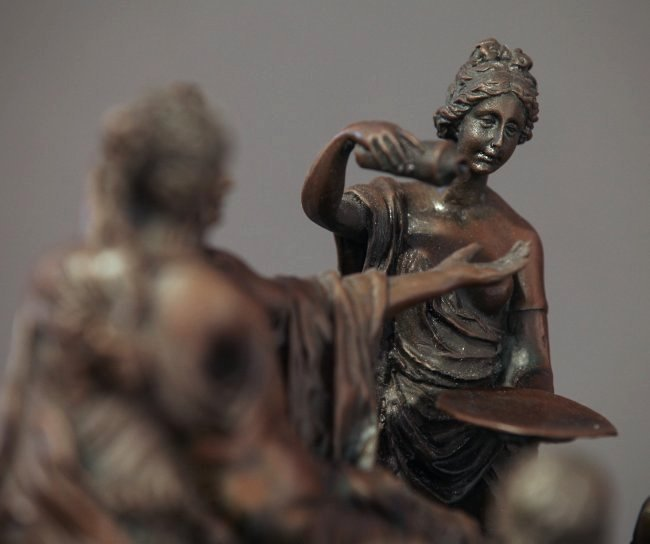 Fine 19th C. French Patinated Bronze Figural Group - 4