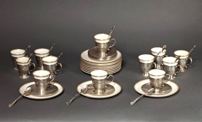 Tiffany & Co Complete Sterling Silver Coffee Service