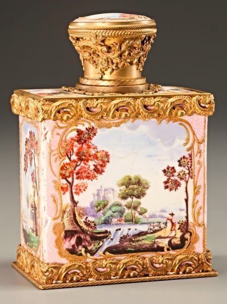 A French Enamel and Gilt Bronze Box, late 19th c