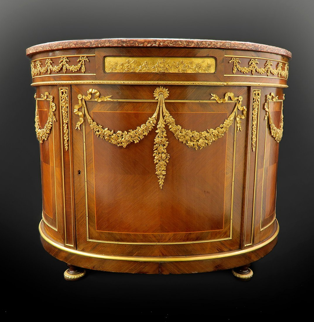Very Fine 19th C. Bronze Mounted French Cabinet/Commode