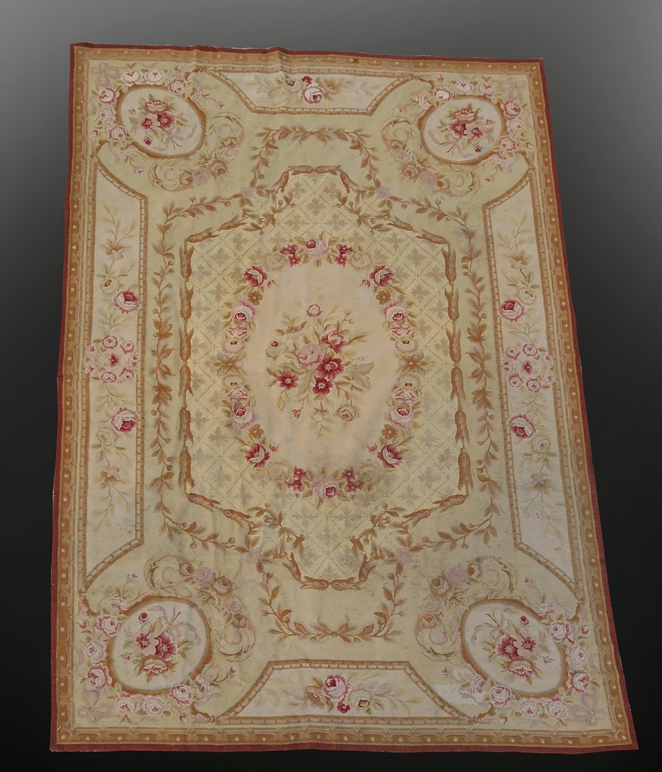 Antique French Aubusson Tapestry/Area Rug