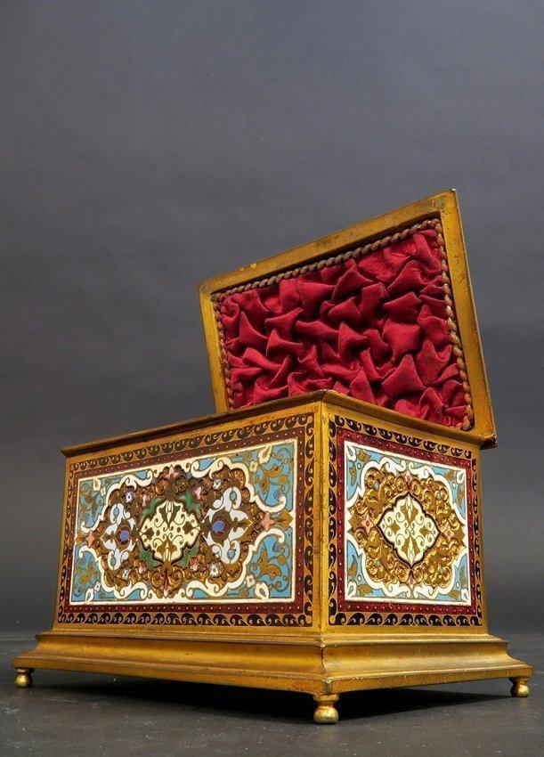 French Gilt-Bronze and Cloisonne Enameled Trinket Box