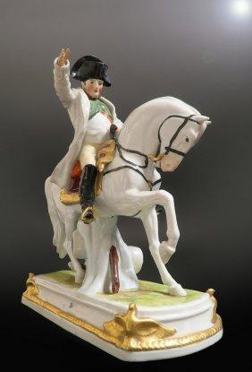 19th C. German Porcelain Figure of Napoleon Bonaparte