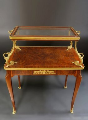 Fine 19th C. French Bronze Mounted Tea Table