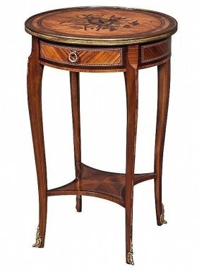 19TH CENTURY GILT BRONZE MOUNTED OCCASIONAL TABLE