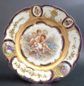 French Sevres Porcelain Plate