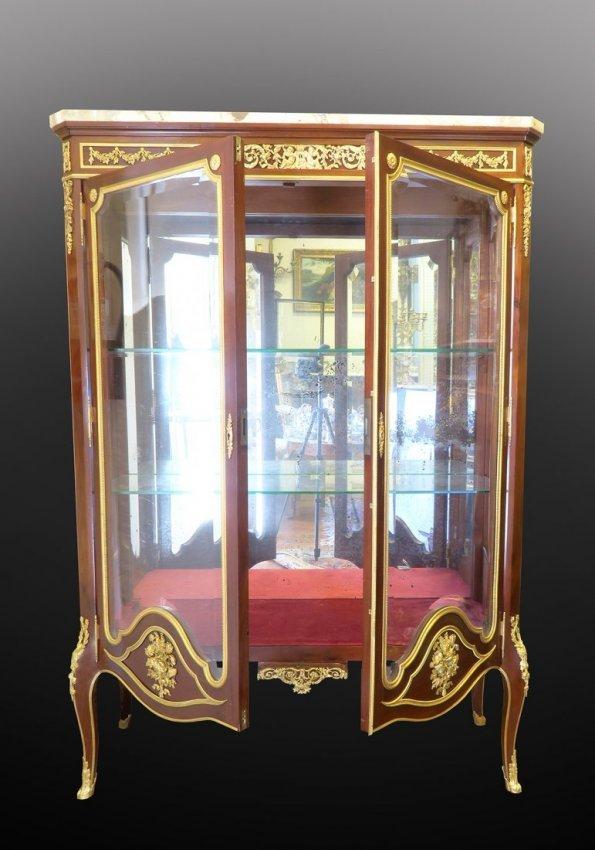 Very Fine 19th C. Linke Quality Vitrine Cabinet