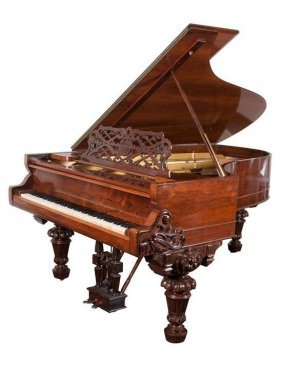 A Magnificent 19th C. Hazleton Bros. Baby Grand Piano