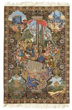 A pictorial Tabriz Persian Rug
