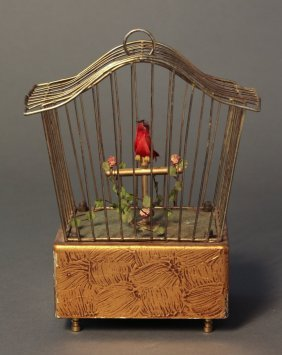 Automaton Singing Bird Cage