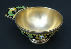 Russian Gilted Silver&Enamel Cup