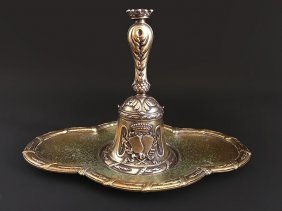 An Important and Rare French Silver Gilted Table Bell