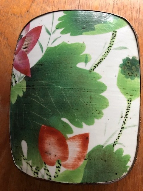 Antique Porcelain Box with metal body