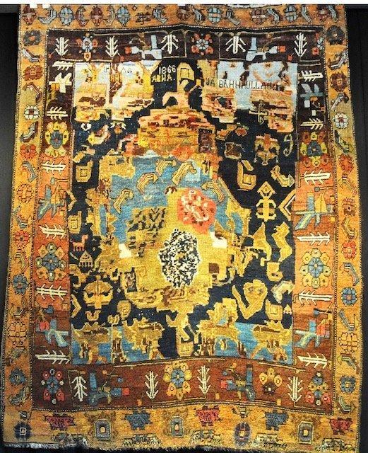 THE HISTORICAL ANTIQUE PERSIAN RUG  JA – NAMAZ