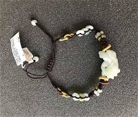 Chinese Finely waved jade bracelet