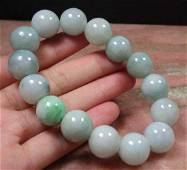 Chinese Certified Natural A Jadeite Bead Bracelet