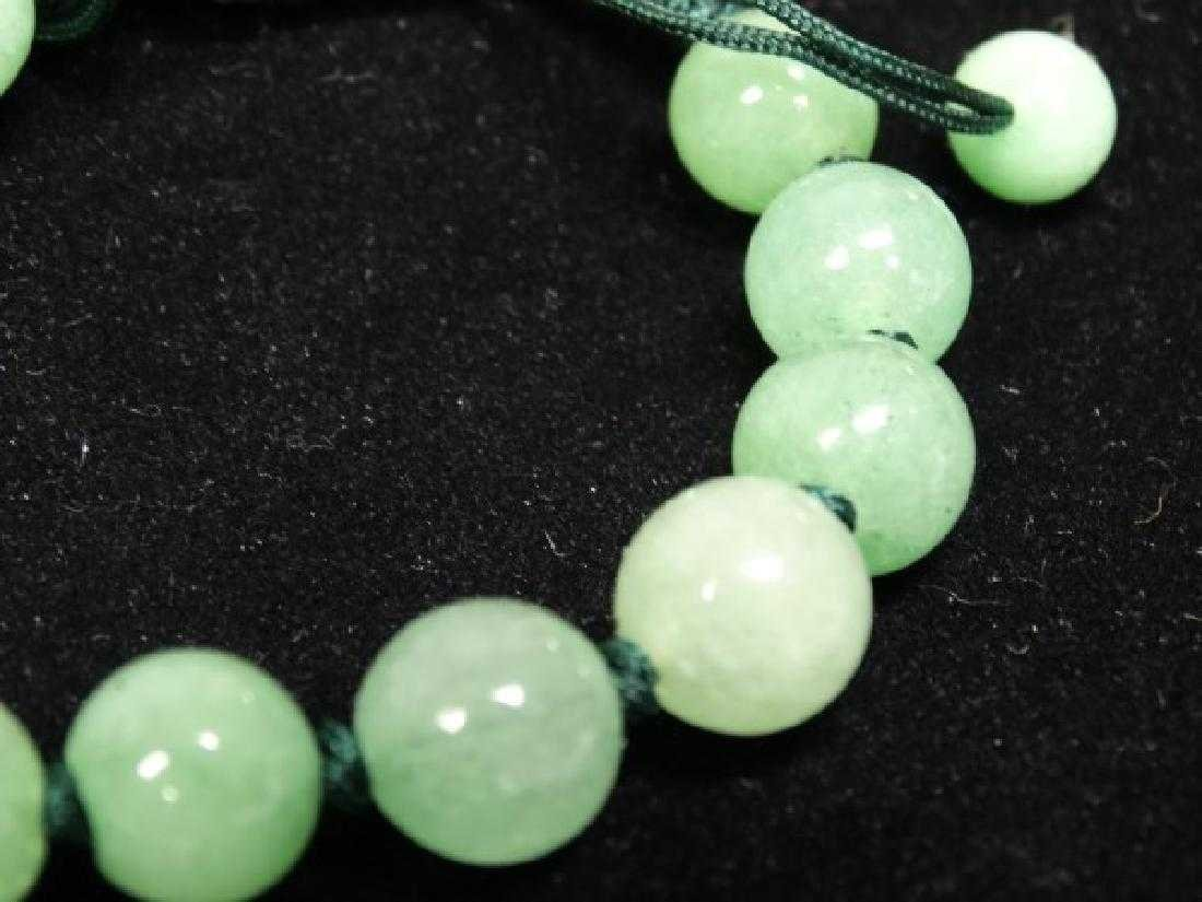 "Chinese Certified Natural ""A"" Jadeite Bead Bracelet - 2"