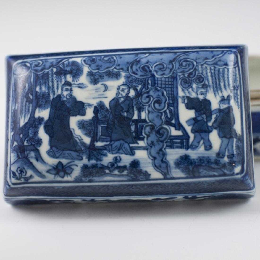 Antique Chinese Porcelain Box - 4