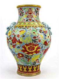 Chinese Wucai - Famille Rose Colorful Vase