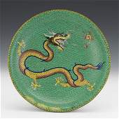 Chinese Cloisonne Dragon Design Tazza