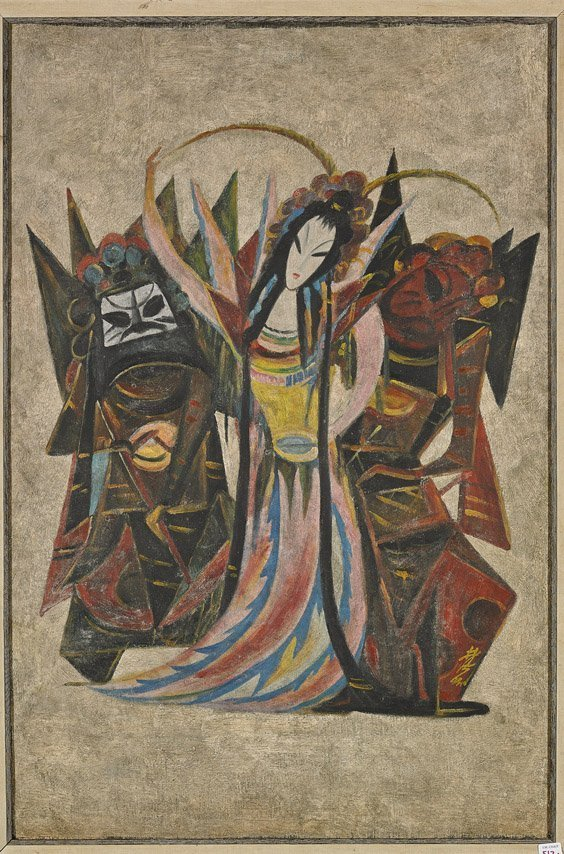 Chinese Oil Painting: Opera Figures 林风