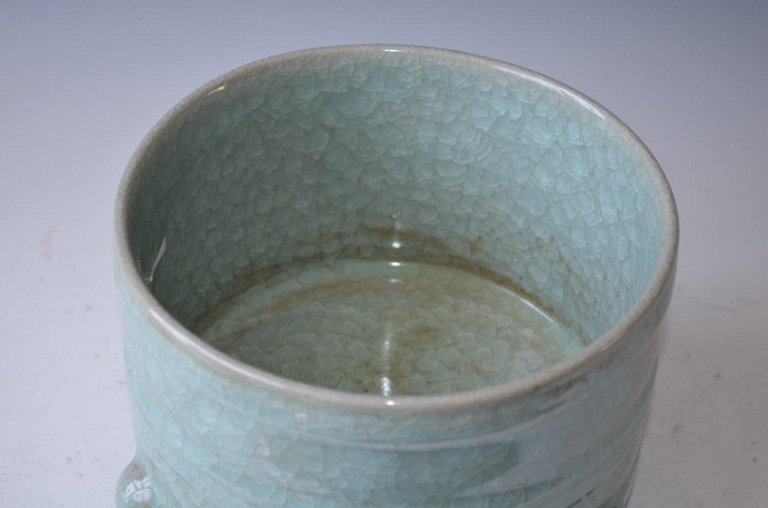 Chinese Ruyao Tripod Porcelain Censer 汝窑 - 2