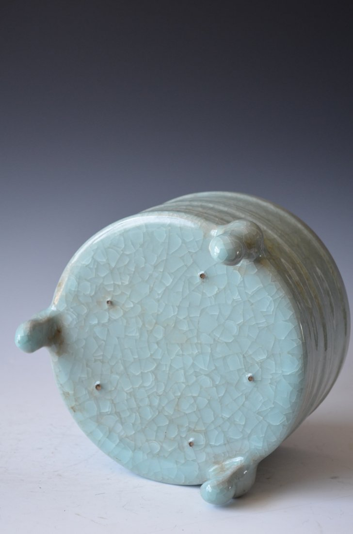 Chinese Ruyao Tripod Porcelain Censer 汝窑 - 3