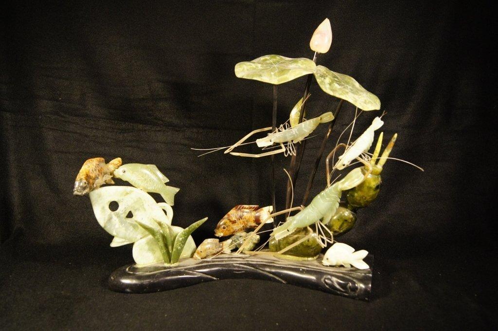 Chinese antique jade sculpture 玉摆件