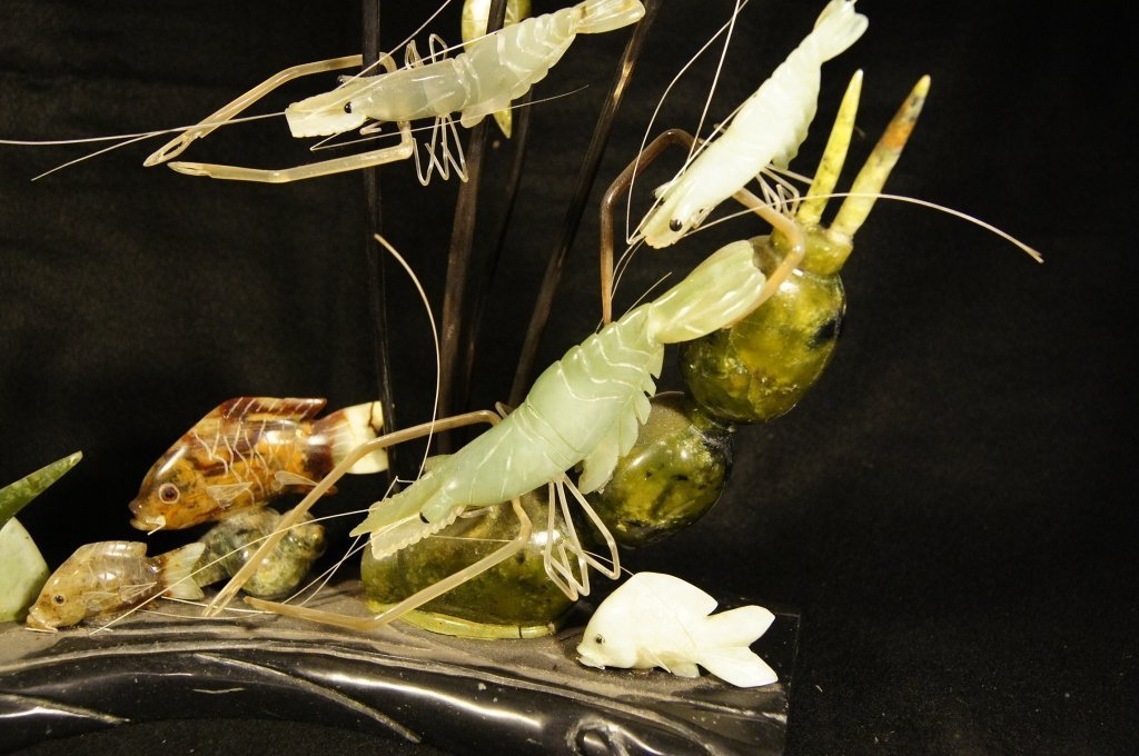 Chinese antique jade sculpture 玉摆件 - 3