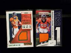 NFL FOOTBALL ROOKIE GAME USED JERSEY CARDS