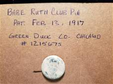 SCARCE BABE RUTH CLUB PIN NEW YORK YANKEES CHICAGO