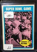 1972 TOPPS ROGER STAUBACH ROOKIE CARD SUPER BOWL HIGH