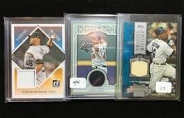 BASEBALL GAME USED JERSEY RELIC CARD LOT
