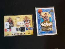 NEW YORK KNICKS GAME USED JERSEY CARDS
