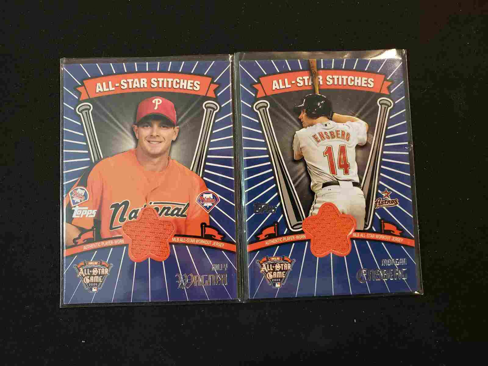 ALL-STAR STICHES GAME USED JERSEY CARDS FROM MLB