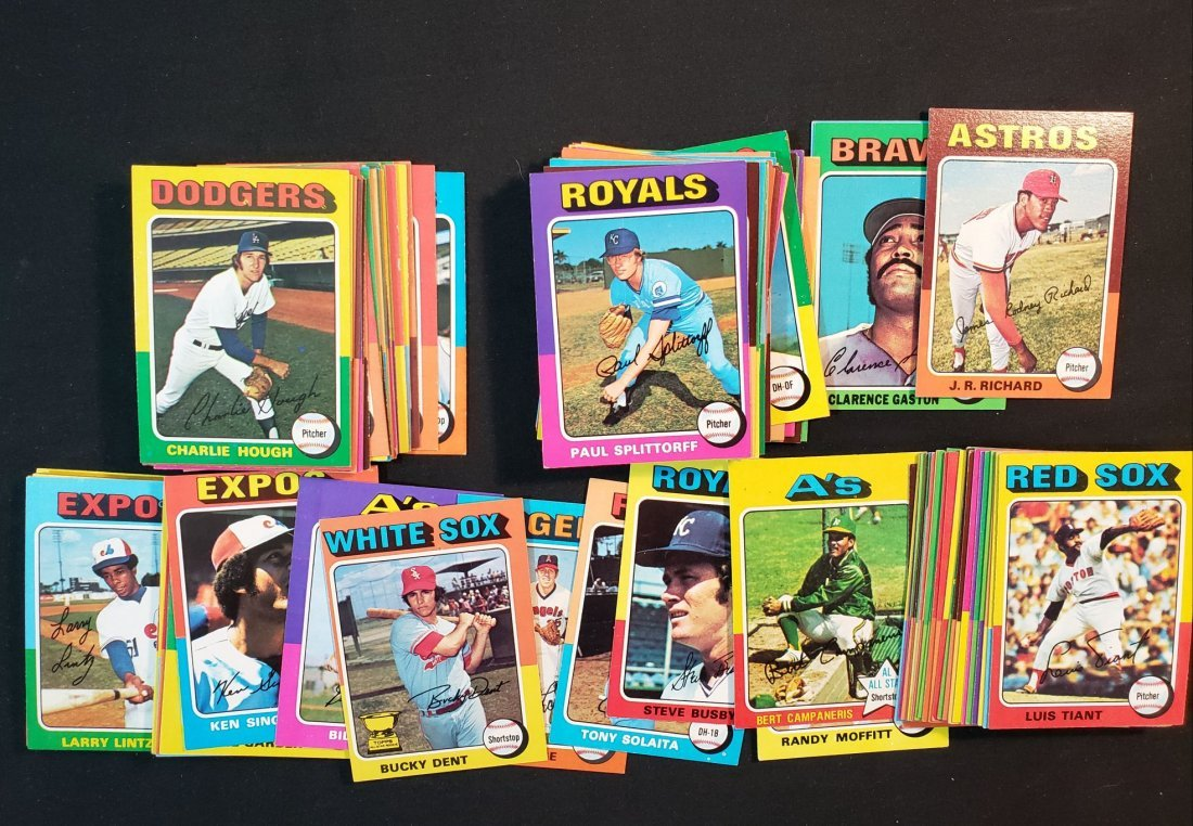 Vintage 1975 Topps Baseball Cards 100 Different Nr Mint