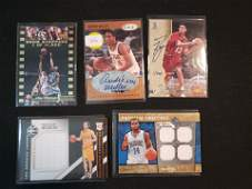 NBA BASKETBALL RELIC AND AUTOGRAPHED HIT CARD LOT